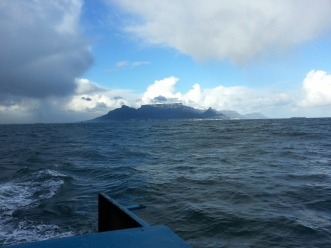 Robben Island in the distance